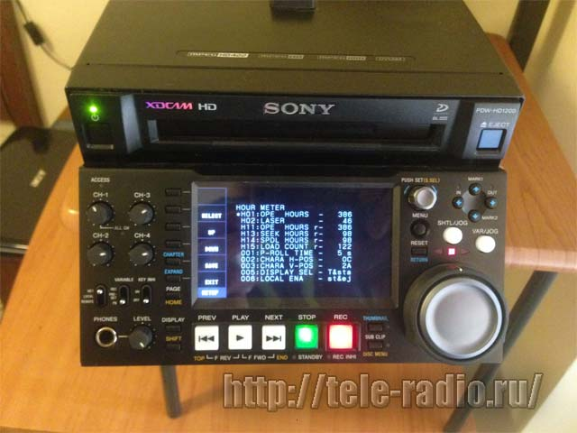 Sony PDW-HD1200 Professional Disk player/recorder