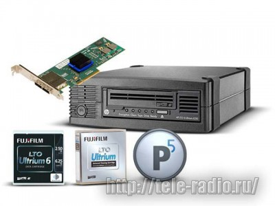 Архивная система хранения HP Ultrium 6250/PresSTORE Archive/Fujifilm LTO-6 Data cartritge 2,5ТВ