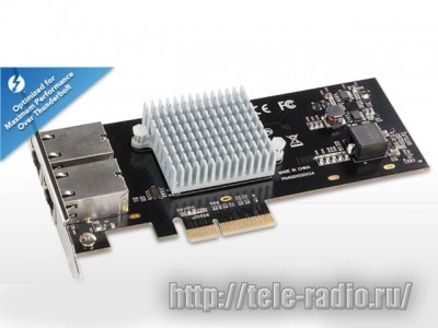 Sonnet Presto 10GBASE-T Ethernet 2-Port PCIe Card