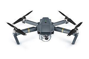 Компактный квадрокоптер DJI Mavic Pro с пультом и возможностью использования виртуального шлема.