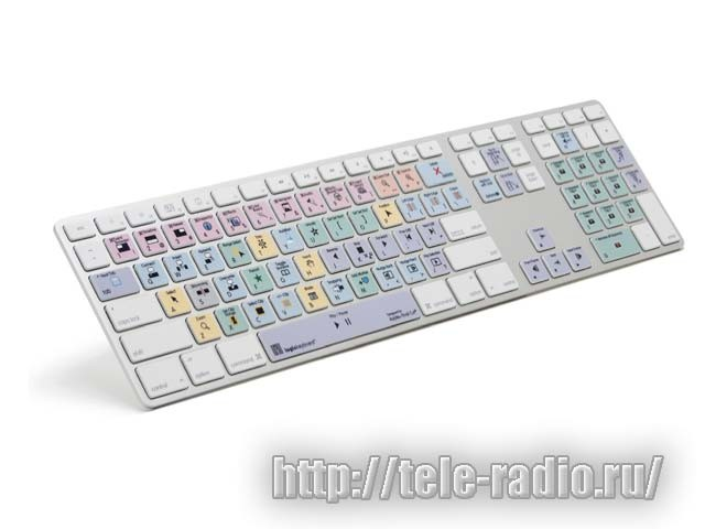 Logic Final Cut Pro X Apple Pro Alu Keyboard - Russian (LKBU-FCPX10-M89-US)