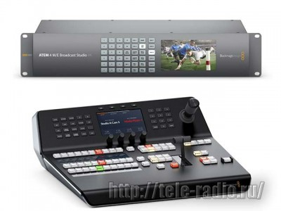 Blackmagic ATEM 4 M/E Broadcast Studio 4K и ATEM 1 M/E Advanced Panel